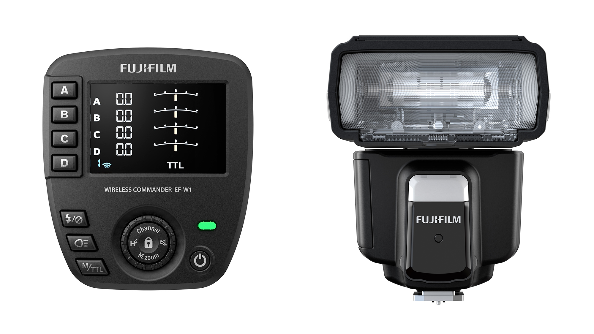 Fujifilm Introduces the EF-60 Shoe Mount Flash and EF-W1 Wireless Commander for X Series and GFX System cameras