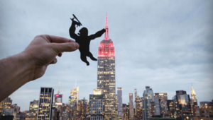 Photographer Reshapes Landmarks into Cartoons with Paper Cutouts
