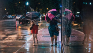Shooting Streets Through a Rain Storm in Chicago